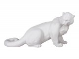 Snow Leopard Lomonosov Imperial Porcelain Figurine