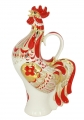 Lomonosov Imperial Porcelain Whiskey/Vodka Decanter Red Rooster 17 oz/500 ml