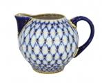 Lomonosov Imperial Porcelain Creamer Tulip Cobalt Net 18.8 fl.oz/555 ml