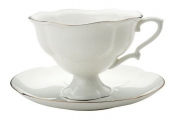 "Lomonosov Tea Set ""Gold Ribbon"" 2pc"