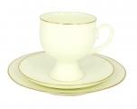 Lomonosov Bone China Coffee Set Gold Edging Cup 5,41 oz/160 ml 3pc
