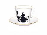 Bone China Cup and Saucer Together 2.71 fl.oz/80 ml