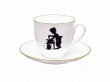 Lomonosov Bone China Cup and Saucer Morning Washing 6.1 fl.oz/180ml