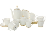 Imperial Porcelain Bone China Porcelain Coffee Set 6/15 Yulia Golden Ribbion