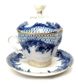 Lomonosov Imperial Porcelain Covered Cup and Suacer Tenderness