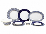 Lomonosov Dinner Set Classic of St. Petersburg 24 pc