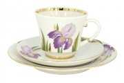 Lomonosov Porcelain Tea Set 3 pc Banquet Iris 7.4 oz/220 ml