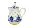 Lomonosov Imperial Porcelain Creamer Orthodox Basket 7.4 oz/220 ml