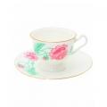 Bone China Tea Set Olimpya Peony 8.12 fl.oz/240 ml 2pc