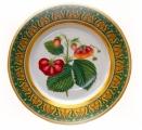 "Strawberries Decorative Wall Plate 10.4"" Lomonosov Porcelain Factory"