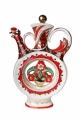 Porcelain Wine Decanter Scarlet Flower 18.6 fl.oz/550 ml