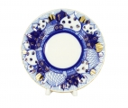 """Lomonosov Porcelain Cake Dessert Plate Church Bells 7""""/180 mm"""
