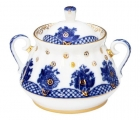 Lomonosov Imperial Porcelain Sugar Bowl Basket 10 oz/300 ml