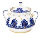 Lomonosov Imperial Porcelain Sugar Bowl Basket 10 oz/300 ml