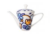 Russian Porcelain Porcelain Bone China Tea Pot Garden Emilia 17 oz/500 ml