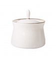 Russian Porcelain Porcelain Dressing Bowl with Lid Golden Ribbon 6.8 fl.oz/200 ml