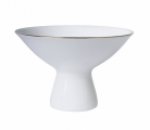 Imperial Porcelain Bone China Porcelain Ice Cream Vase Golden Edge