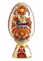 Lomonosov Porcelain Collectible Easter Egg on Stand Bright Ornament