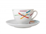 Lomonosov Porcelain Tea Set Cup and Saucer Spring Game 7.8 oz/230 ml