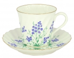 Bone China Twist Tea Cup and Saucer Brook 5.24 fl.oz/155ml