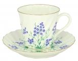 Bone China Twist Tea Cup and Saucer Brook 5.24 fl.oz/155ml