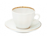Porcelain Tulip Coffee Cup and Saucer Snow White 4.7 oz/140 ml
