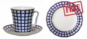 Special Offer: Buy Porcelain Mug Cobalt Cell 12.2 fl.oz/360 ml and get FREE Matching Dessert Plate