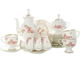 Imperial Porcelain Porcelain Bone China Coffee Set 6/20 Classic-2 Enchantress
