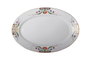 "Lomonosov Imperial Porcelaine Oval Platter Moscow River 15.7""/400 mm"