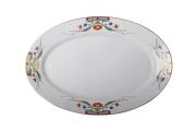 "Lomonosov Imperial Porcelaine Oval Platter Moscow River 15.7""/400 mm"