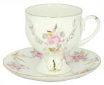 Lomonosov Imperial Porcelain Bone China Coffee Set Cup and Saucer Galant 5.41 oz/160 ml