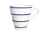 Imperial Porcelain Bone China Porcelain Mug Wavy Navy Stripes 14.2 fl.oz/420 ml