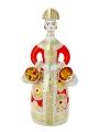 Lomonosov Imperial Porcelain Wine Decanter set Girl in Red Dress 23.7oz/700 ml