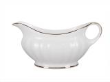 Imperial Porcelain Bone China Gravy Boat Nega Golden Ribbon 9.8 fl.oz/290 ml