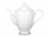 Lomonosov Imperial Porelain Bone China Tea Pot Nega Golden Ribbon 50 fl.oz/1480 ml
