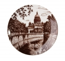 "Lomonosov Porcelain Decorative Wall Plate Cathedral 7.7""/195 mm"