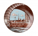 "Porcelain Decorative Wall Plate River 7.7""/195 mm"