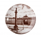 "Lomonosov Porcelain Decorative Wall Plate Palace Square with Angel 7.7""/195 mm"