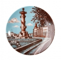 "Decorative Wall Plate Rostral Column St.Petersburg 7.7""/195 mm Lomonosov Imperial Porcelain"