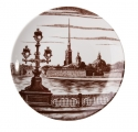 "Lomonosov Porcelain Decorative Wall Plate Peter and Paul Fortress 7.7""/195 mm"