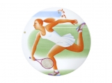 "Russian Porcelain Porcelain Decorative Wall Plate Olympic Games Tennis 10.8""/275 mm"
