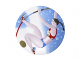 "Porcelain Decorative Wall Plate Olympic Games Pole Vault 10.8""/275 mm"