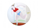 "Decorative Wall Plate Summer Olympic Games Shot Put 10.8""/275 mm Lomonosov Imperial Porcelain"