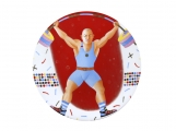 "Imperial Porcelain Porcelain Decorative Wall Plate Olympic Games Weightlifting 10.8""/275 mm"