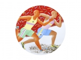 "Porcelain Decorative Wall Plate Olympic Games  Track and Field Running 10.8""/275 mm"