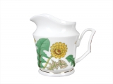 Lomonosov Imperial Porcelain Bone China Creamer Yulia Sunny Bouquet 4.1 fl.oz/120 ml