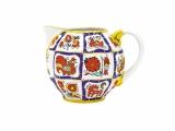 Lomopnosov Imperial Porcelain Creamer Russian Lubok 11.8 fl.oz/350 ml