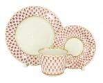 Lomonosov Porcelain Lomonosov Porcelain Red Net Cup and Saucer