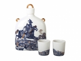 Lomonosov Imperial Porcelain Whisky/Vodka Decanter set Slavic Hero Knight 22 oz/650 ml with 2 shots