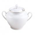 Lomonosov Imperial Porcelaine Sugar Bowl Spring Snow White 13.5 oz/400 ml